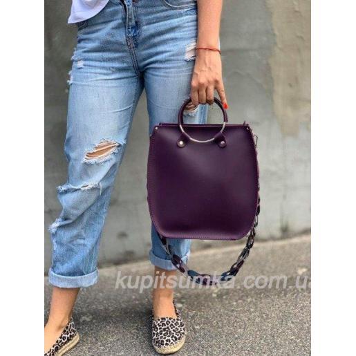 Оригинальная сумка Anneta из натуральной кожи Белая