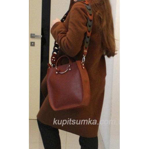 Оригинальная сумка Anneta из натуральной кожи Кэмел