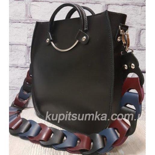 Женская сумка Anneta из натуральной кожи Черная