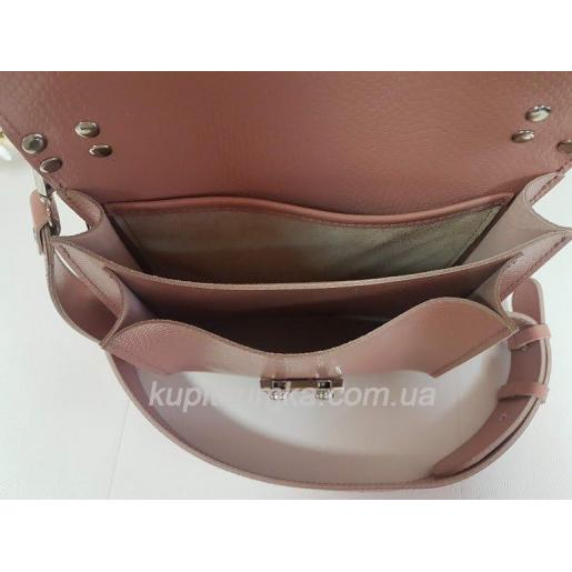 Стильная кожаная сумочка Barberini розового цвета