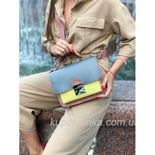 Стильная вишневая сумка Barberini из натуральной кожи