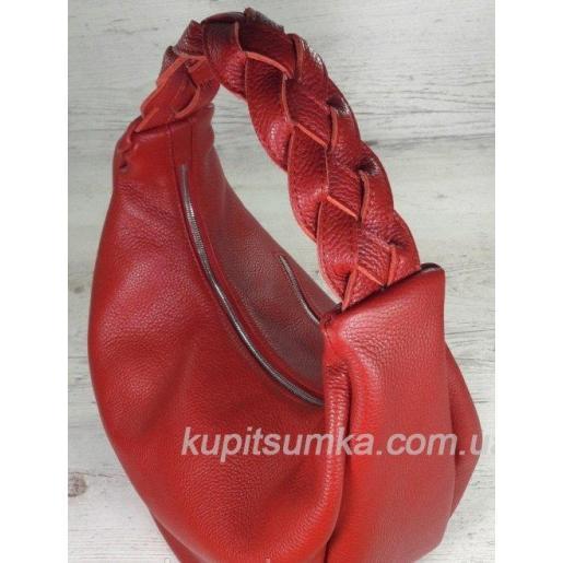Женская сумка на плечо из кожи красная Bianca 3A-963