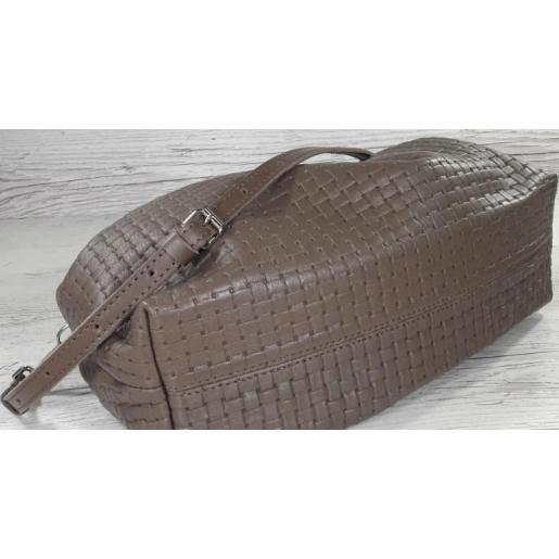 Женская кожаная сумка Bottega 59-35 BOTG Капучино