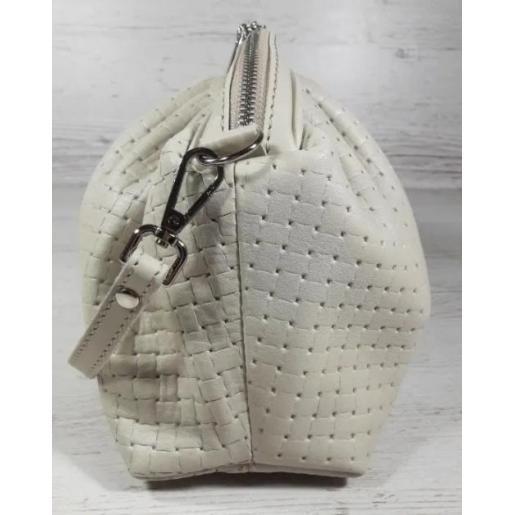 Женская кожаная сумка Bottega 59-34 BOTG Бежевый