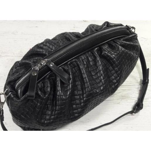 Модная женская сумка из натуральной кожи с оригинальным тиснением
