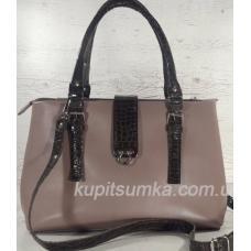 Женская сумка Chloé из натуральной кожи 27А Капучино