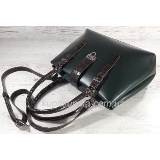 Женская сумка Chloé из натуральной кожи 27А Зелёный