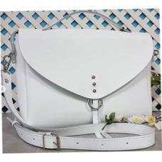 Стильная сумочка из высококачественной натуральной кожи Белая