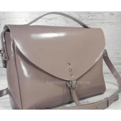 Женская кожаная сумка  Бежевый