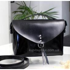 Женская сумка Messenger из черной натуральной кожи