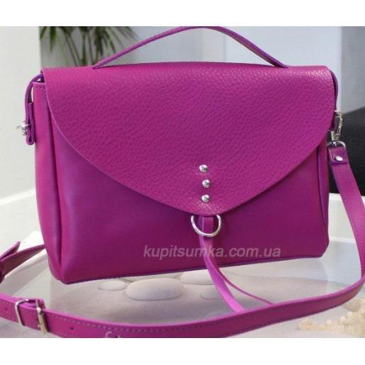 Стильная сумочка выполнена из высококачественной натуральной кожи Фуксия