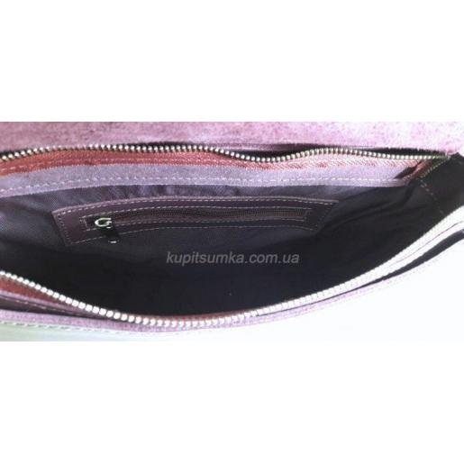 Женская сумка сливового цвета из натуральной кожи