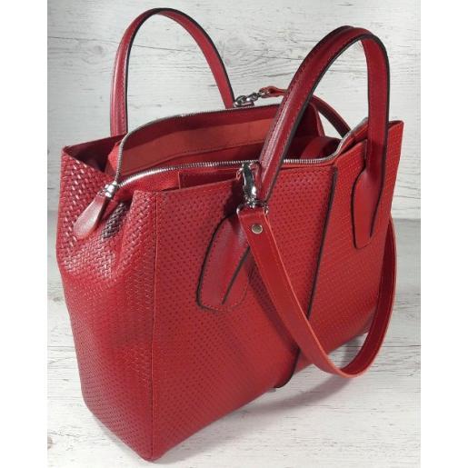 Кожаная женская сумка ETERNO EK26-A50 Красный