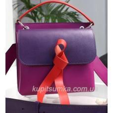 Женская кожаная сумка  фиолетовая Fabiola 35A-3