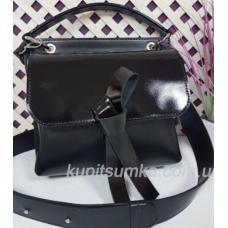 Завораживающая кожаная черная сумочка Fabiola