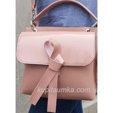 Женская кожаная сумочка Fabiola Розовая