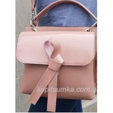 Завораживающая кожаная сумочка Fabiola Розовая
