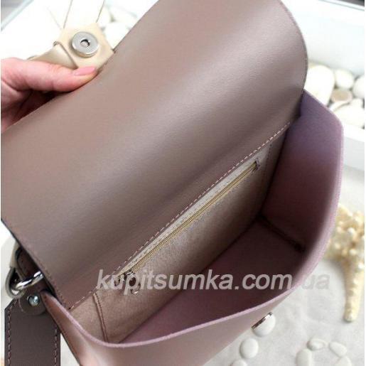 Завораживающая розовая кожаная сумочка Fabiola