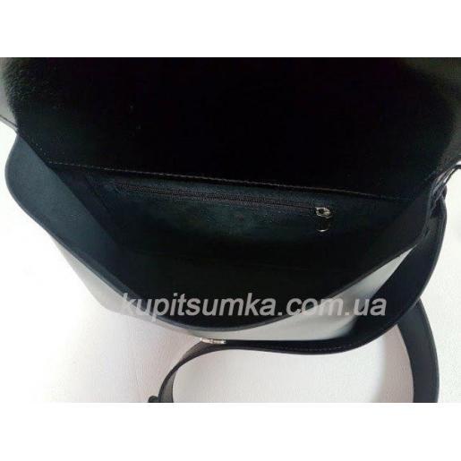 Женская кожаная сумка черная Fabiola 35A-4