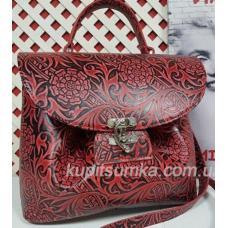 Женская кожаная сумка Vintage FID1-1 Красный
