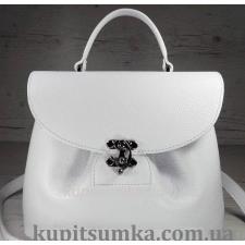 Очаровательная сумка из натуральной мягкой кожи белая