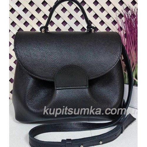 Женская сумка Vintage из натуральной кожи FID15 Черный
