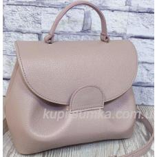 Очаровательная сумка из натуральной телячьей кожи Тауп