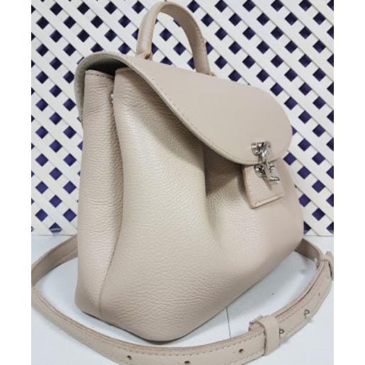 Женская кожаная сумка Vintage FID4 Бежевый