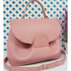 Кожаная женская сумка Vintage FID7 Розовый