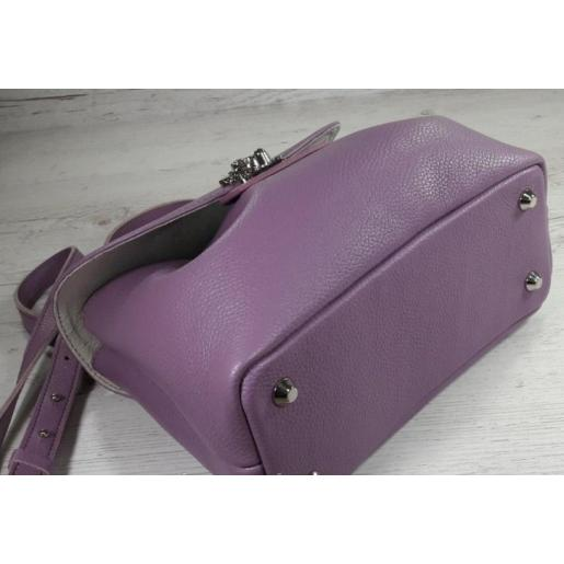 Женская сумка из натуральной кожи Ferrin FID1A-10 Сиреневый