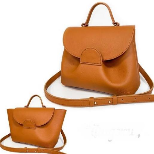 Женская сумка из натуральной кожи Ferrin FID1A-11 Оранжевый
