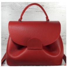 Кожаная женская сумка Vintage FID7-18 Красный