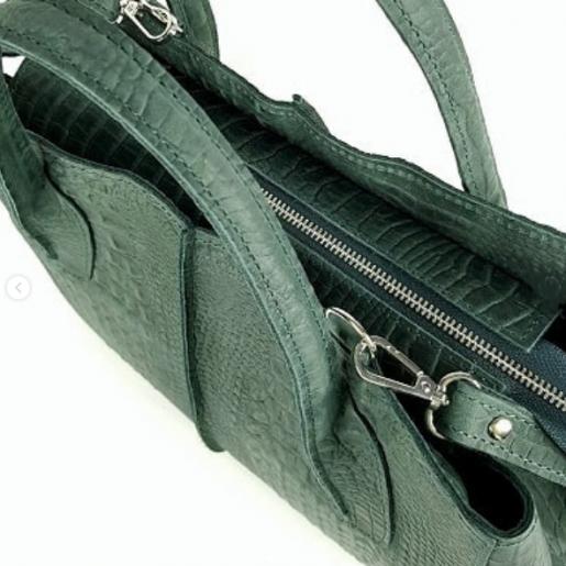 Кожаная сумка женская зеленая ETERNO EK26-A-39