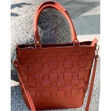 Эксклюзивная кожаная женская сумка Рыжий