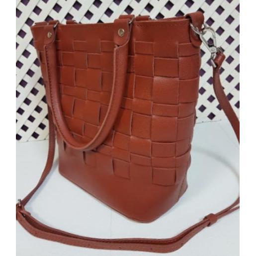 Кожаная женская сумка Freska-2 Рыжий