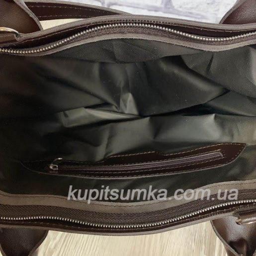 Кожаная женская сумка Carla CAR8A-11 Коричневый
