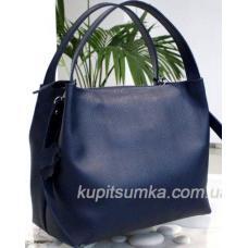 Женская сумка Bottega из натуральной тисненой кожи Синий