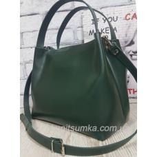 Женская сумочка из натуральной кожи Зеленый