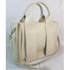 Женская бежевая кожаная сумка FEO-22-3A