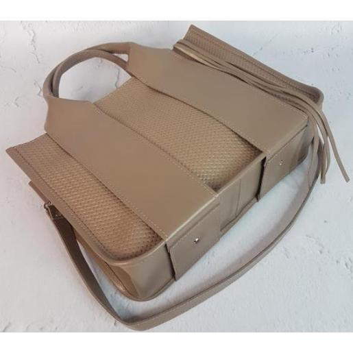 Женская кожаная сумка Jammu FEO-22-2A Бежевый