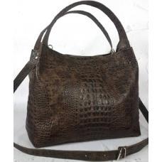 Женская кожаная сумка ALIGATOR KE12A Коричневый