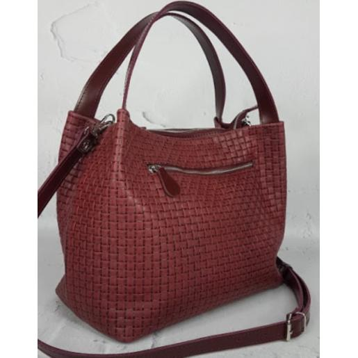 Женская кожаная сумка Bottega KE12A-9 Бордовый