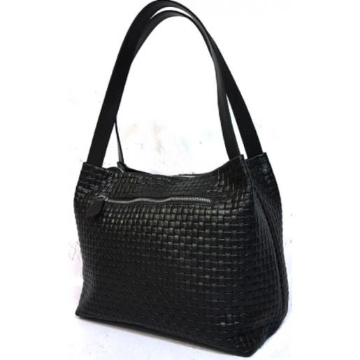 Женская кожаная сумка Bottega 12A Черный