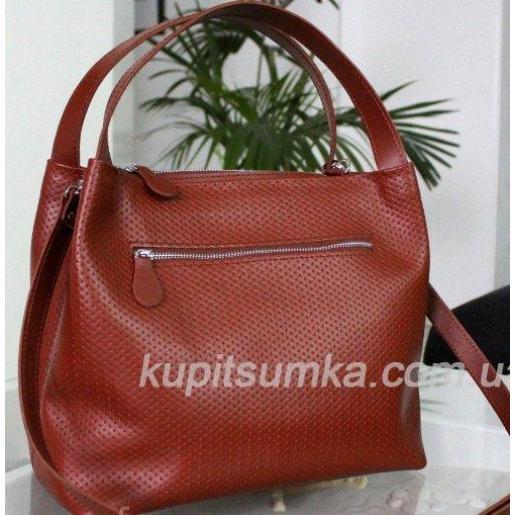 Женская сумка Bottega из натуральной кожи KE12A-1 Кэмел