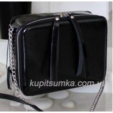 Женская кожаная сумка через плечо KVAD1-5 Черный