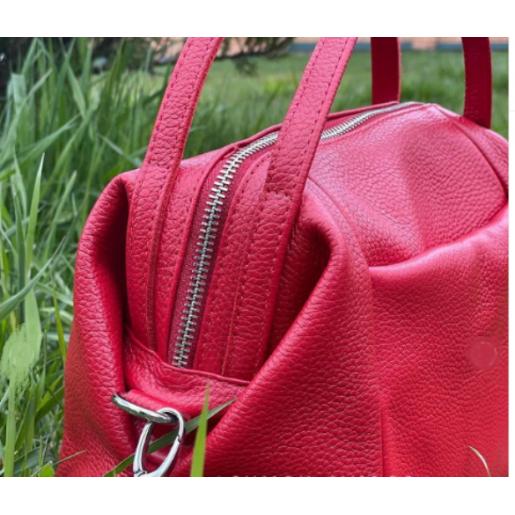 Женская кожаная сумка VP51-1 Красный