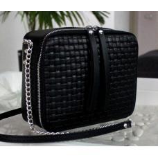 Женская кожаная сумка через плечо KVAD1-43 Черный