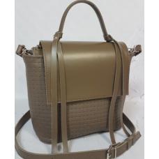 Кожаная женская сумка Kerri KER3-4 Капучино