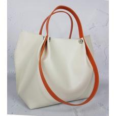 Женская сумка бежевая кожаная 29KE-1