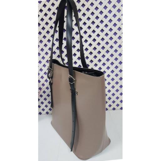 Женская кожаная сумка бежевая 17A-21E